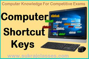 Computer Shortcuts Sukrajclasses.com