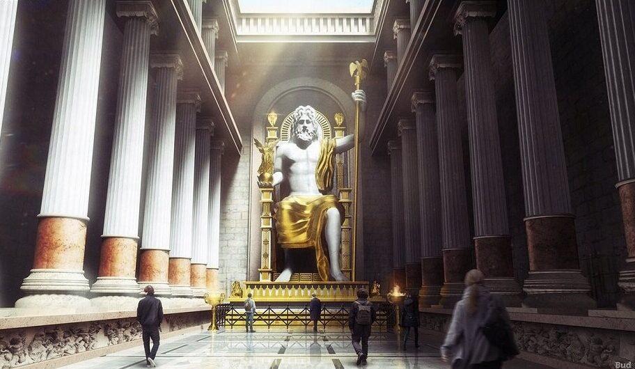 ओलम्पिया में जियस की मूर्ति-sukrajclasses.com